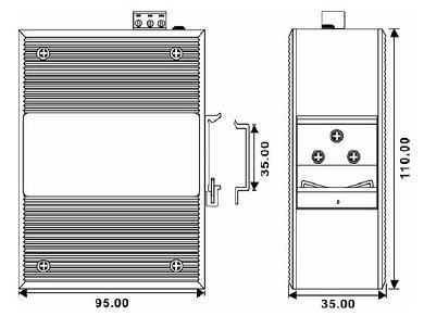 IMC-GB-SFP-1T – 10/100/1000Tx media converter