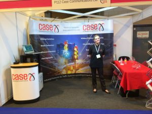 Vivien Taylor after building the stand at the ITS Congress Glasgow – June 2016