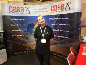 Case Communications Vivien Taylor on stand duty at the ITS Congress in Glasgow