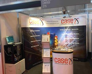 Case Communications stand Z75 prior to the Traffex 2017 exhibition opening
